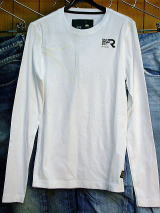 G-STAR RAW セール【30%OFF】G-STAR LONG T SHIRT ODEON R T L/S 84013.1141.110 WHITE COOL RIB